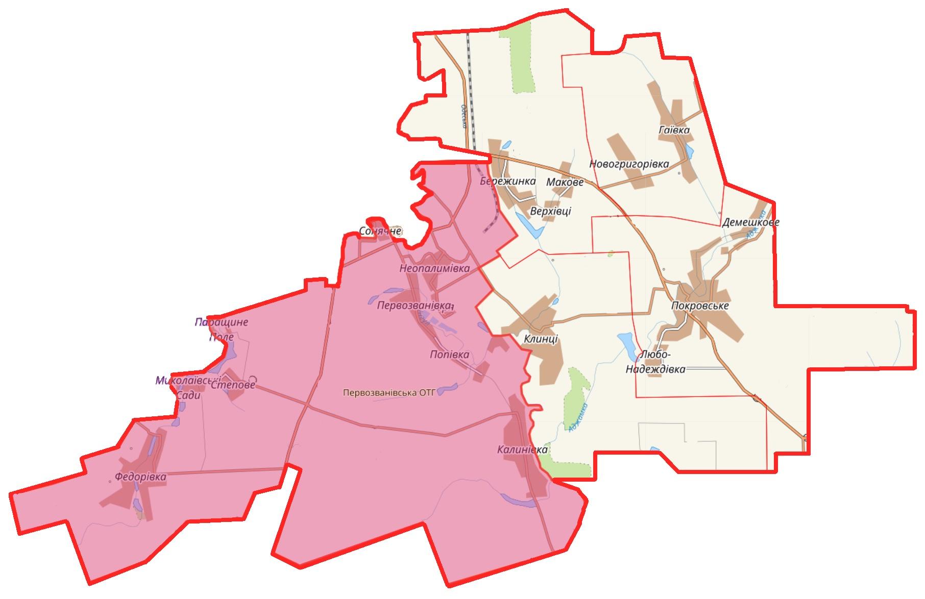 Карта ОТГ 2020 2021